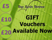 Top Spin Tennis Gift Vouchers
